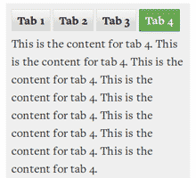 Animated Tabs
